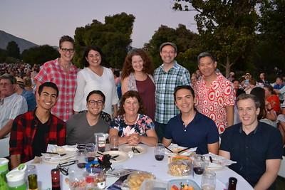 Ciro Fidaleo (seated, from left), Jonathan and Janet Rios, James Morse and Brandon Doss. Back: Ruth Cooper, Tiffany Thompson, Kally Camp, Tony Foster and Ray Qyirolgico.