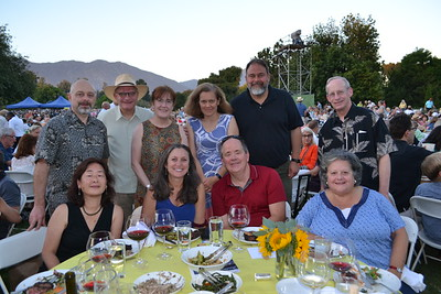 Laura Buke (seated, from left), Debra Scott, Richard Cook and Denise Wilcox. Back: Kevin Burke, Arthur and Begona Amador, Anne Louis, Charles Wheteel and Reed Wilcox.