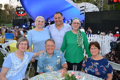 Kathie Reilly (seated, from left) and Alan and Rita LaFace. Back: Veronica and Greg Garabedian with Nancy Lahey.