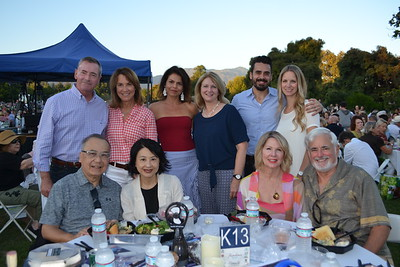 Ken and Lucianna Leung (seated, from left), Jennie Manders and Alan Dias. Back: Robert and Barbara Jones, Pasadena Pops CEO Lora Unger, Kay Wolking and Matt and Liz Plunkett.