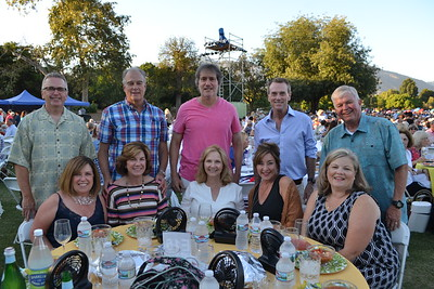 Pam and Don Knapp, Terry and Woody Walker, Vicki and Brad Schwartz, Lisa and Jon Curtis, and Brenda and Len Pieroni