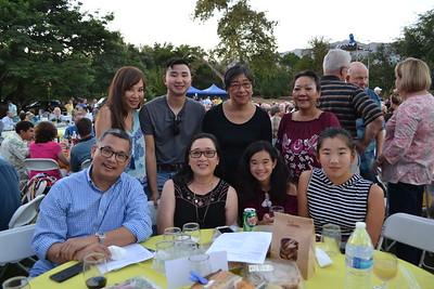 Lope and Olive Choa (seated, from left) and Megan and Chloe Pu. Back: Sabrina, Nathan and Judy Yao, and Ida Juliana.