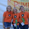 Circle of Friends President Claire Marco with Pumpkin Festival co-chairs Brandi Mathisen and Eryn Kalavasky