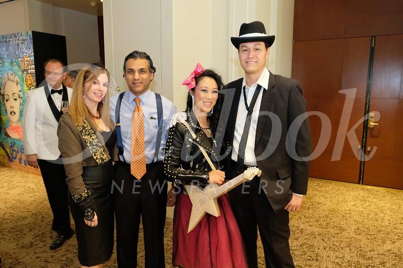 Nicole and Hamid Zaidi with Julia Wang and Chaz Brown