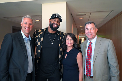 Wayne Cook, Marcedes Lewis, and Angie and Fritz Miller