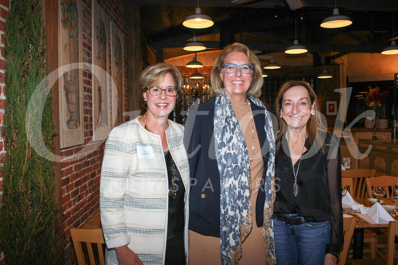 Huntington Hospital Senior Executives Jane Haderlein, CEO Dr. Lori Morgan and host Gale Kohl of Gale's Restaurant