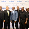 Clark Rucker, Councilman John Kennedy, Vice Mayor Tyron Hampton, the Rev. Anthony McFarland, Harlan Ward and Raphael Henderson
