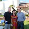 Eric Larson with Shirley and Rafael Vistan