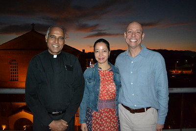 Father Joachim Walder with Pilar and Chris Haydel