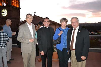 Bill Bogaard, Father Paul Sustayta, honoree Claire Bogaard and Mayor Terry Tornek
