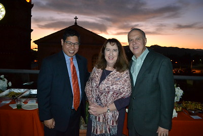 Rocky Domingo with Ann and Joe Sanders