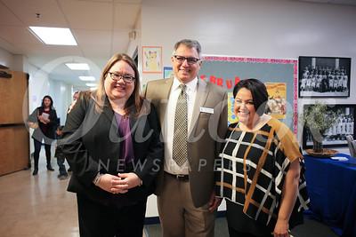 Vice Principal Elizabeth Tramontina, Tony Santilena and Rocio Pineda