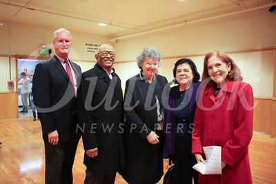 Richard Gray, Millard Murphy, Sister Angela Hallahan, Sister Charlene Vignes and Vera Vignes