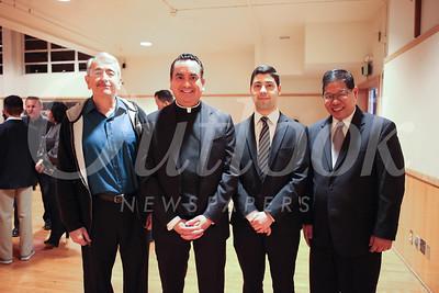 Fausto Sanchez, the Rev  Paul Sustayta, Luis Gerardo Piñeda and