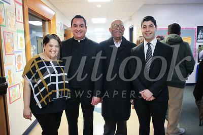 Rocio Pineda, the Rev  Paul Sustayta, Millard Murphay and Luis Gerardo Peña
