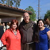 St. Francis President Father Tony Marti with event co-chairs Jennie Vanacore and Hilda Hernandez