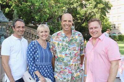 J P  Lortal, Claudette and Darryl Dunn, and Paul Leclerc