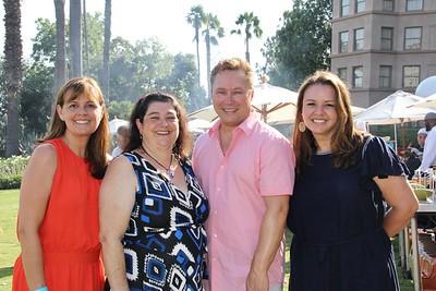 Pasadena Ronald McDonald House board co-chair Megan Foker, PRMH House Director Elizabeth Dever, Langham Managing Director Paul Leclerc and Langham Director of Communications Susan Williger
