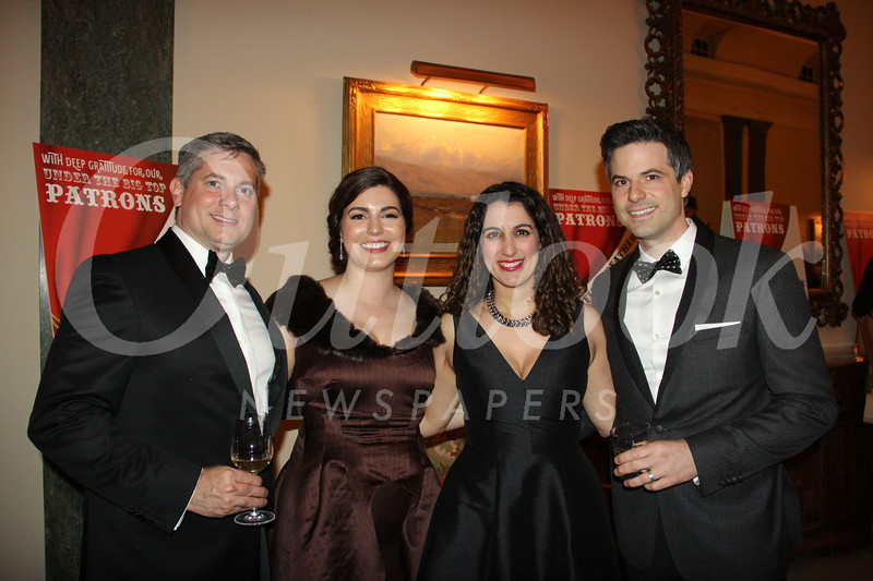 John Swanson and Christine Muller with Goli and John Compoginis