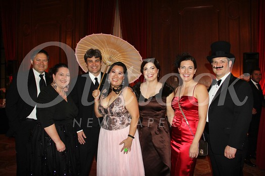 Daniel and Stephanie Imm, Andrew Firchau, Melissa Wu, Christine Muller, Melissa Morrison-Reyes and Braden Criswell