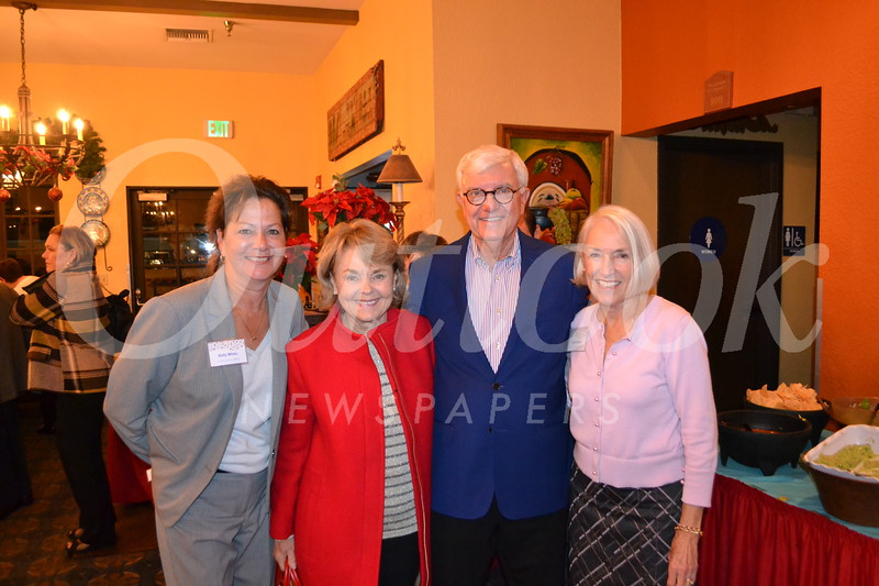Kelly White, Sheila and Tim Smith, and Gioia Pastre