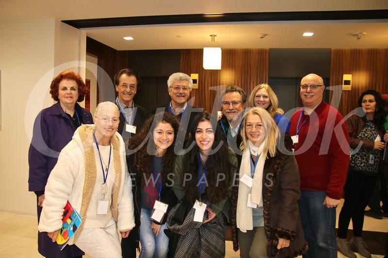 Jennifer (front row, from left) and Sarah Sanbar, Sherin Zadah and Angela Awad. Back: Dorothy, Sandy and Shadi Sanbar, Dennis Awad, Kay Wolking and Sandy Slater.
