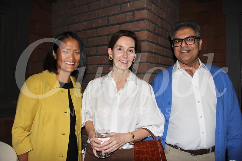Lisa Burke with Jane and Rajiv Sachdeva