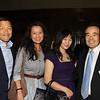 Charlie and Julie Woo, Sharon Kwan and board chair Richard Fung
