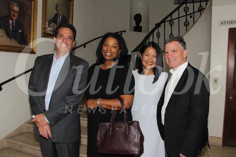 Marc Harris, June Diarra, and Lisa and Mike Burke