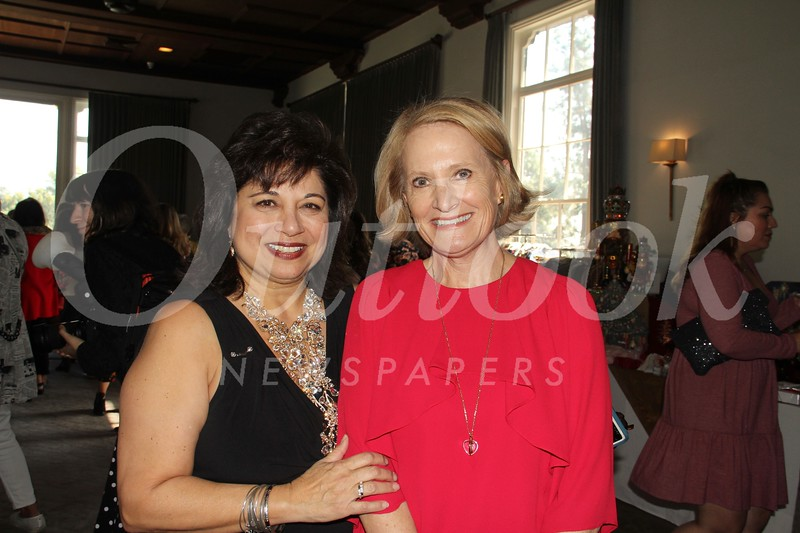 Yes, Virginia luncheon committee chair Diana Rafeedie-Nofal and Pasadena Community Foundation CEO Jennifer DeVoll