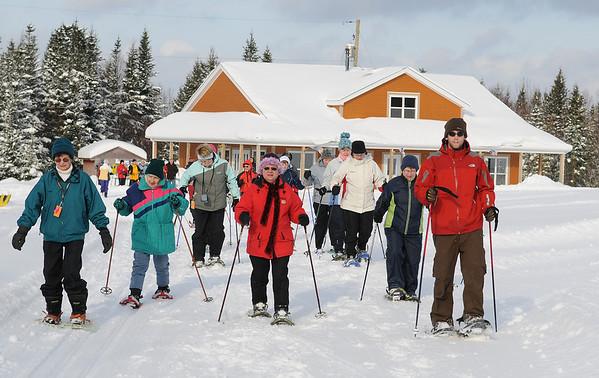 Seniors Snowshoeing