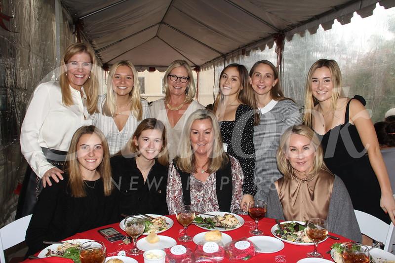 Michaela Gallo (seated, from left), Ashley and Krista Slocum, and Terese Atzen. Back: Lisa Gallo, Ellie and Carol Watkins, Elizabeth Cass, Jeanette Valdez and Hallie Atzen.