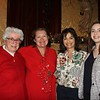 Sister Sheila McNiff, Head of School Kate Morin, and Diana and Alex Eisele