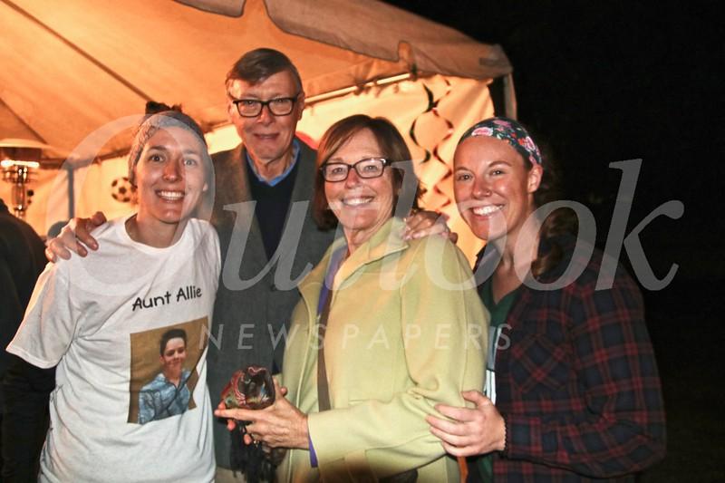Allison, Jerry, and Deanna Clark with Heather Camara