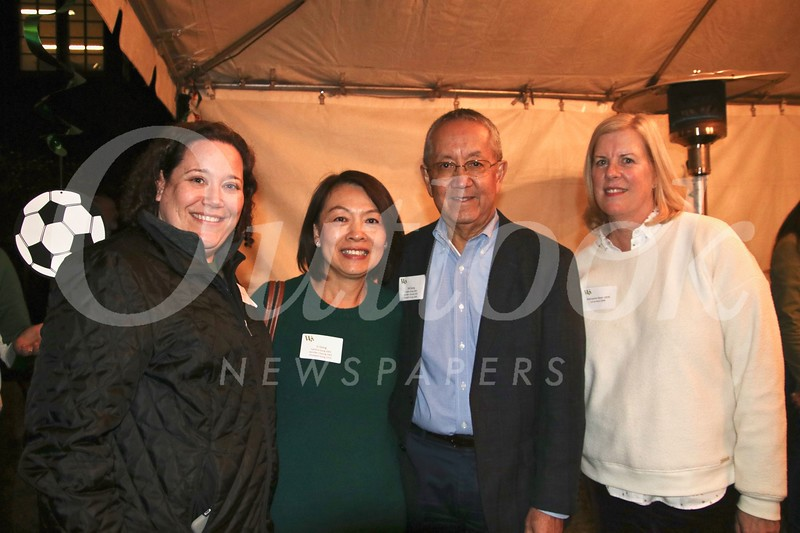 Sarah Jallo, Li and Bill Gong, and Marianne Ryan