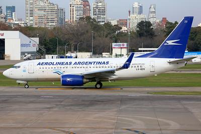 LV-BZO | Boeing 737-76N | Aerolineas Argentinas