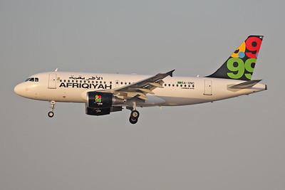 5A-ONC | Airbus A319-111 | Afriqiyah Airways