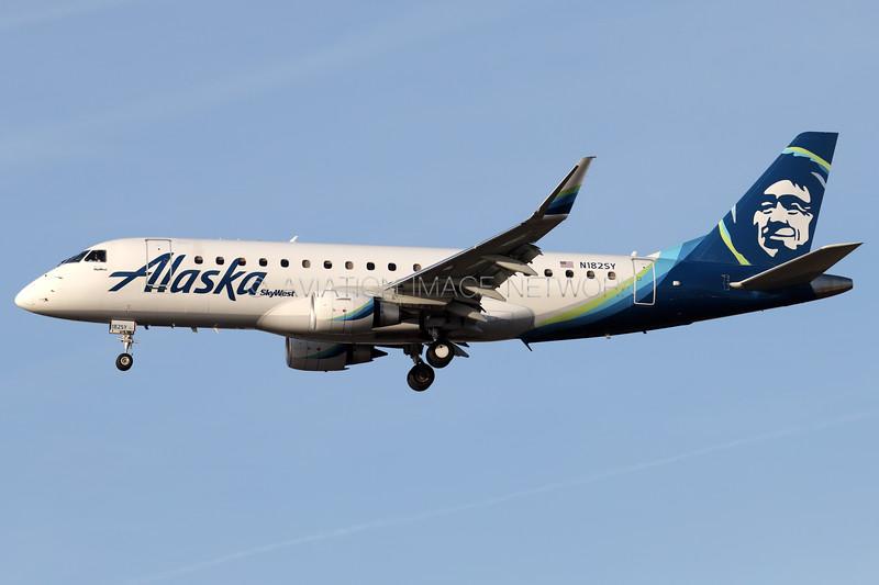 N182SY | Embraer ERJ-175LR | Alaska Airlines (SkyWest Airlines)