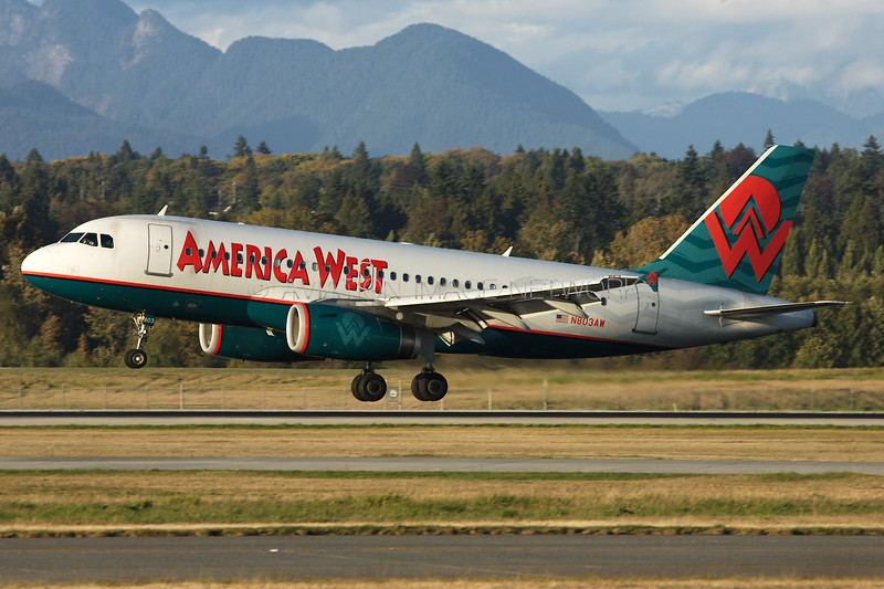 N803AW | Airbus A319-132 | America West Airlines