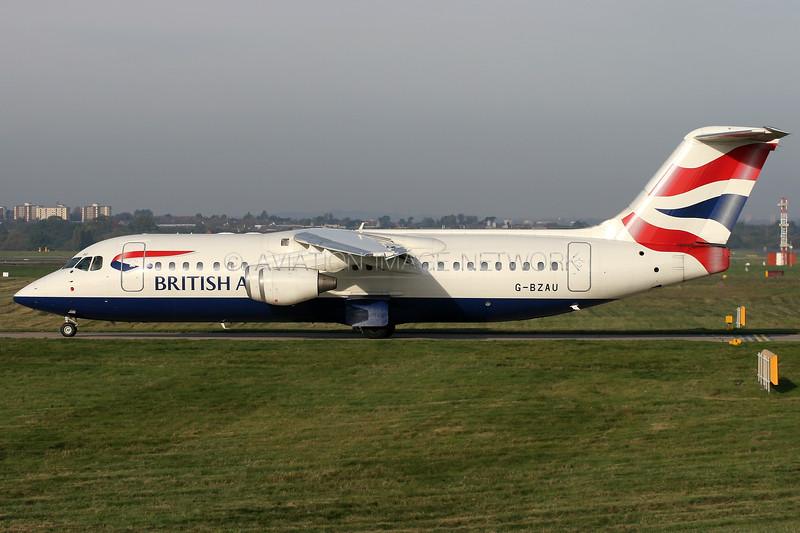 G-BZAU | British Aerospace Avro RJ100) | British Airways (BA CityFlyer)