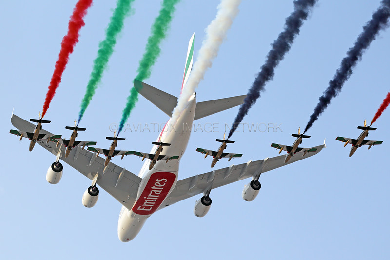 A6-EEO   Airbus A380-861   Emirates   Al Fursan Aerobatic Team
