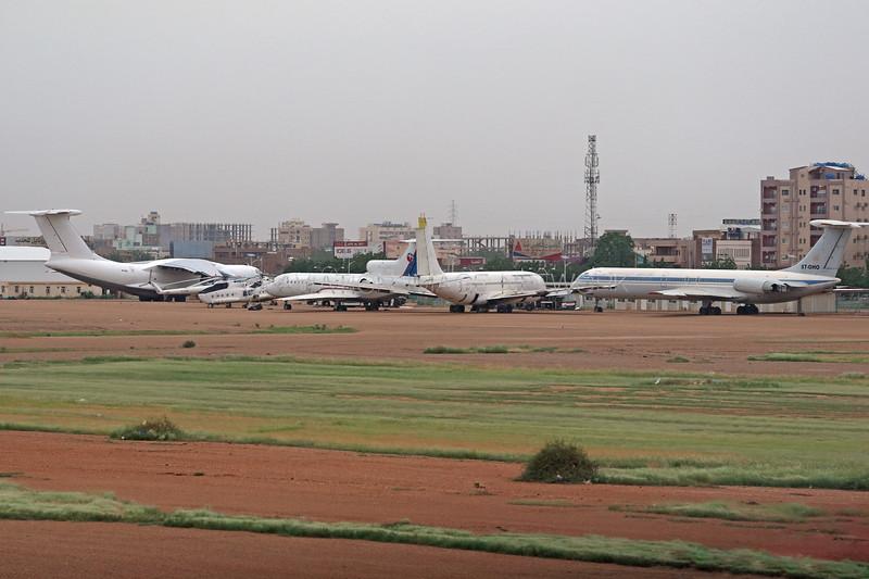 ST-OHO | Ilyushin Il-62 | Forty Eight Aviation | ST-AFB | Boeing 707-3J8C | Sudan Airways | ST-TAC | Yakovlev Yak-42 | Tarco Air | ST-AZZ | Ilyushin Il-76 | Sudan Air Force