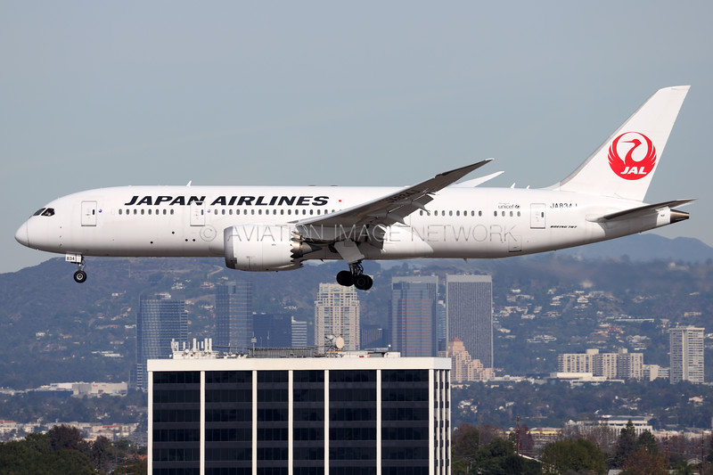 JA834J | Boeing 787-8 | JAL - Japan Airlines