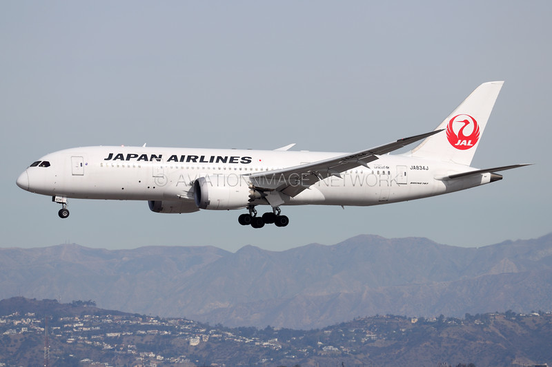 JA834J | Boeing 787-8 | JAL - Japan Airlines