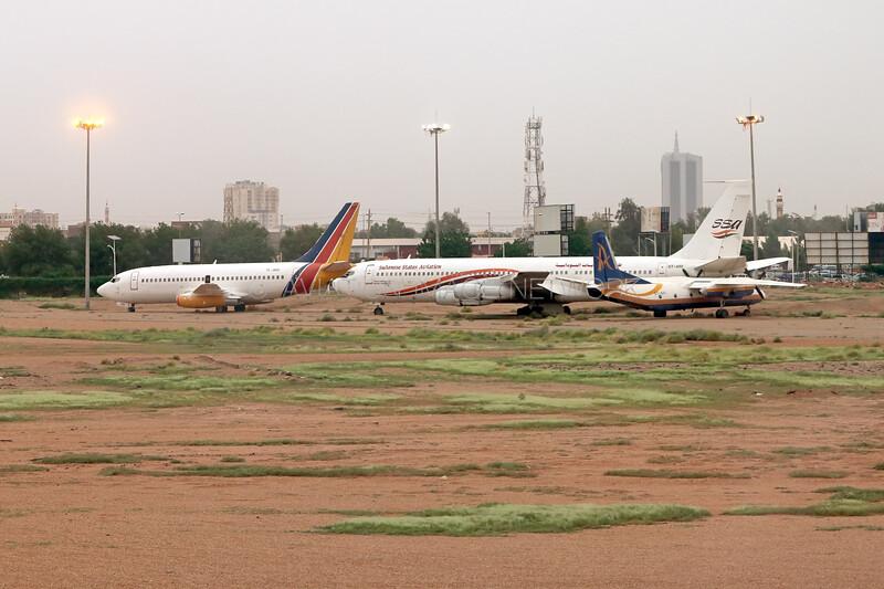 TL-ADU   Boeing 737-247   Lobaye Airways   ST-ARI   Boeing 707-3J6C   Sudanese States Aviation   ST-AVI   Antonov An-26   Avia Trans Air Transport