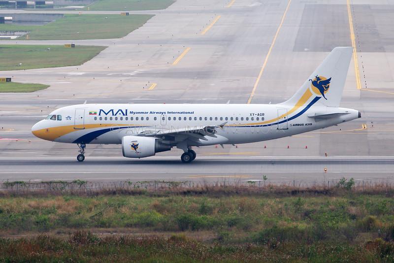 XY-AGR | Airbus A319-112 | MAI - Myanmar Airways International