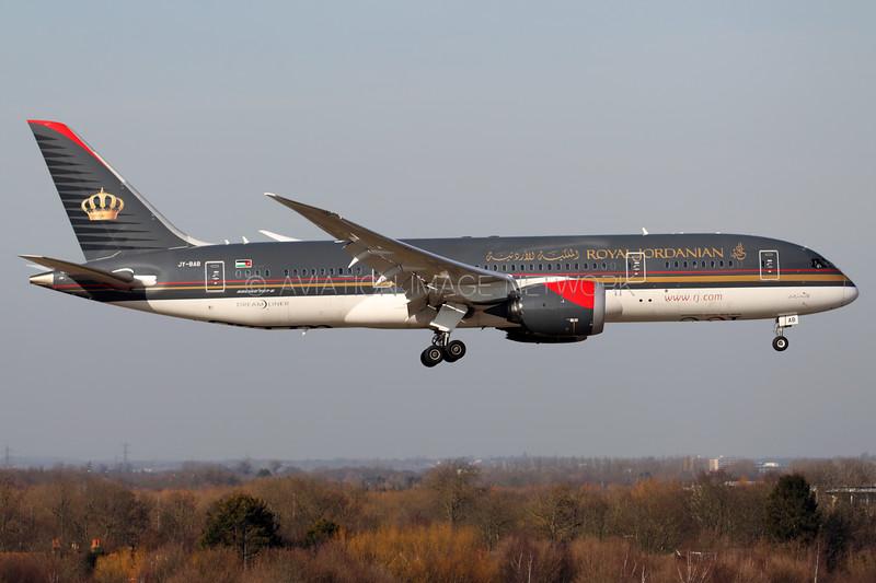 JY-BAB   Boeing 787-8   Royal Jordanian