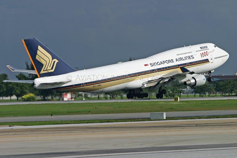 9V-SMU | Boeing 747-412 | Singapore Airlines
