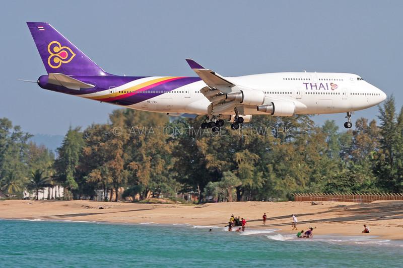 HS-TGJ   Boeing 747-4D7   Thai Airways