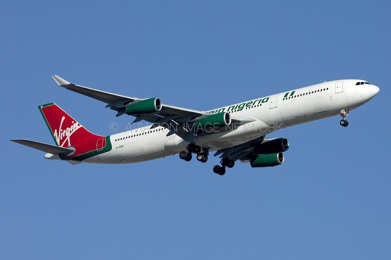 G-VSUN | Airbus A340-313 | Virgin Nigeria